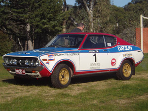 Neil Taylor with Datsun 710 replica